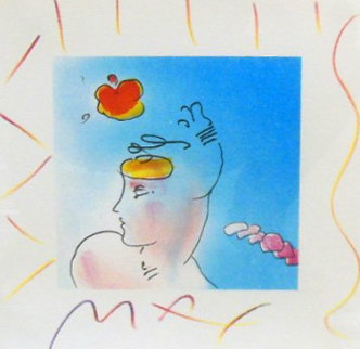 Lady and Zoople 1993 10x10 Works on Paper (not prints) - Peter Max