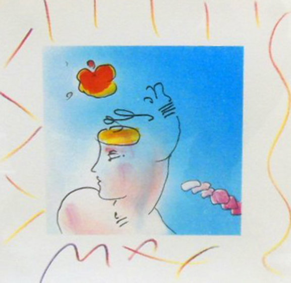 Lady and Zoople 1993 10x10 Works on Paper (not prints) by Peter Max