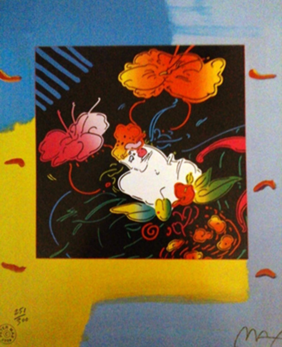 Lady Floating Flowers 2004 Limited Edition Print by Peter Max