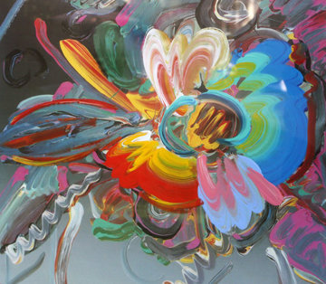 New York Flower Show  Unique 1999 43x32 Works on Paper (not prints) by Peter Max