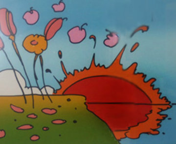 Sunrise Flowers 1972 Limited Edition Print by Peter Max