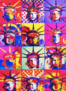 Liberty And Justice For All 2001 Unique 24x18 Works on Paper (not prints) by Peter Max