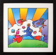 Cosmic Runner  2000 Limited Edition Print by Peter Max - 1