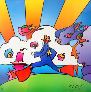 Cosmic Runner  2000 Limited Edition Print by Peter Max