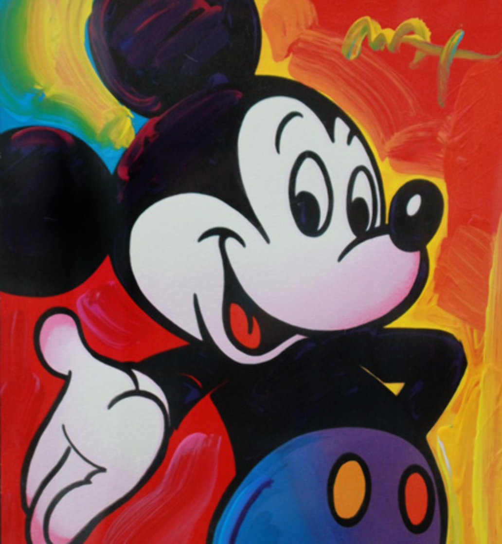 Mickey 2003 Unique 2003 37x35 Works on Paper (not prints) by Peter Max