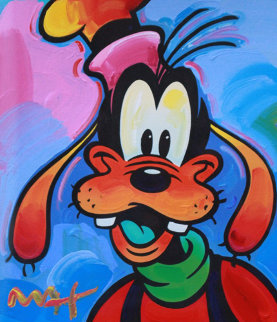 Goofy 2003 Unique 37x35 Works on Paper (not prints) by Peter Max