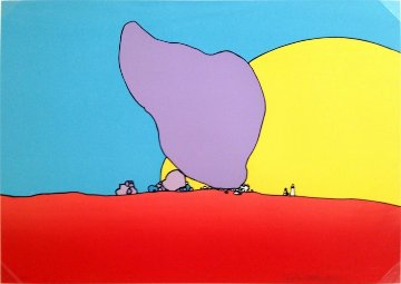 Rocks and Sand 1971 Limited Edition Print by Peter Max