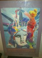 With Liberty And Justice For All Touro Law Center 1995 Limited Edition Print by Peter Max - 1