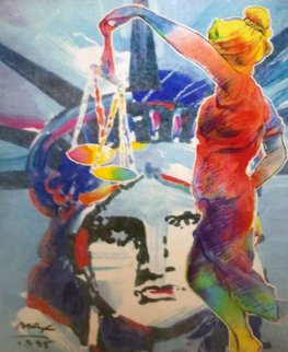 With Liberty And Justice For All Touro Law Center 1995 Limited Edition Print by Peter Max