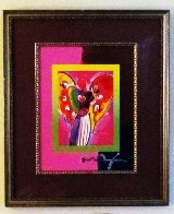 Angel With Heart on Blends 2007 Unique #740 26x22 Works on Paper (not prints) by Peter Max - 1