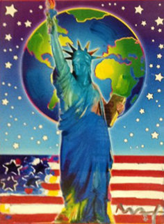 Peace on Earth II 2005 Unique 24x18 Works on Paper (not prints) by Peter Max