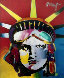 Delta Unique 29x24 (Statue of Liberty) Works on Paper (not prints) by Peter Max - 0