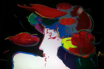 Floral Spectrum 1992 38x48 Original Painting by Peter Max