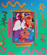 Flower Blossom Lady Collage 2000 Unique  Works on Paper (not prints) by Peter Max - 0