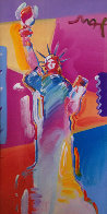 Statue of Liberty 2001 53x34 Super Huge Works on Paper (not prints) by Peter Max - 0