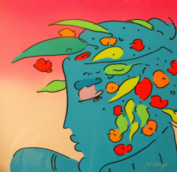 Blue Lady Planet 1989 Limited Edition Print by Peter Max