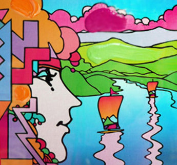 Blushing Beauty on Blends 2006  Unique 24x22 Original Painting by Peter Max