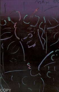 Midnight Profile 1988 Limited Edition Print by Peter Max