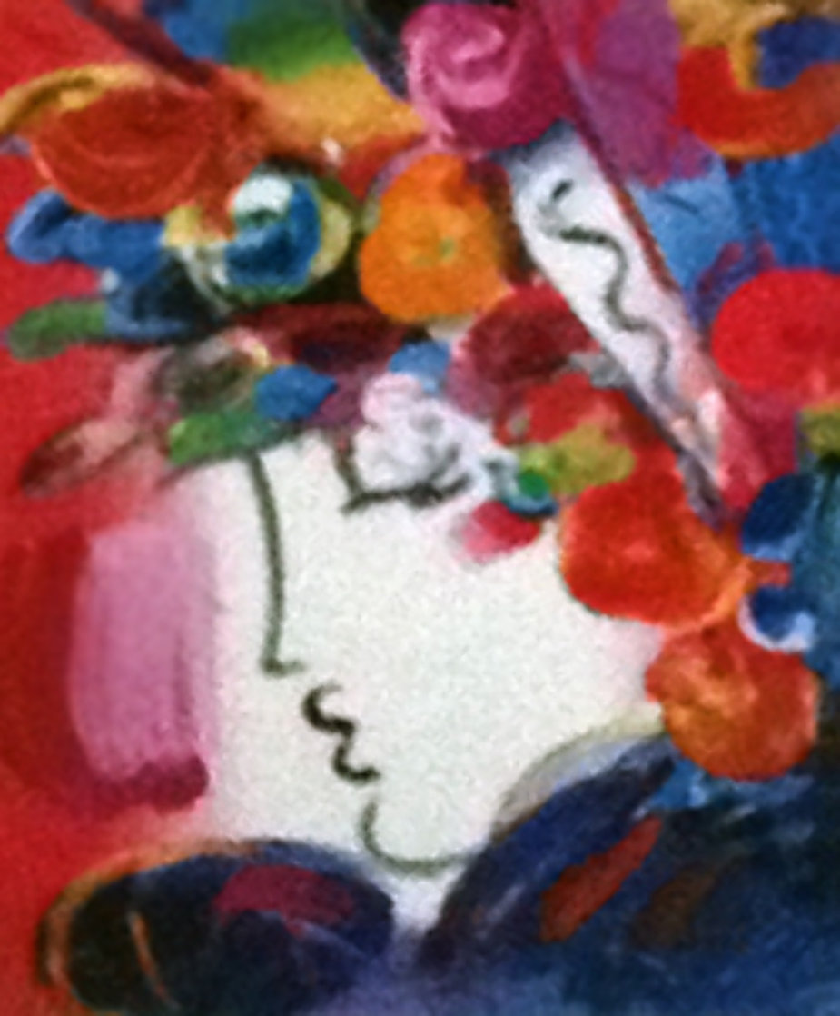 Blushing Beauty on Blends Unique 2006 25x23 Works on Paper (not prints) by Peter Max