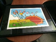 Sunrise Flowers  1972 (Vintage) Limited Edition Print by Peter Max - 2