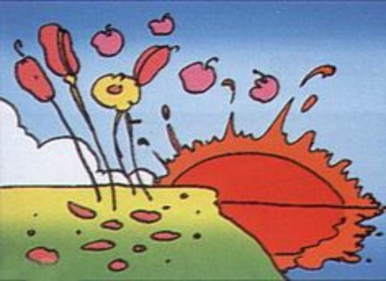 Sunrise Flowers  1972 (Vintage) Limited Edition Print by Peter Max