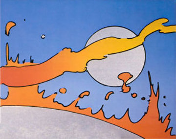 Close to the Sun (Vintage) 1977 Limited Edition Print - Peter Max