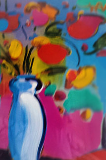 Flowers 1997 Unique 29x39 Works on Paper (not prints) by Peter Max