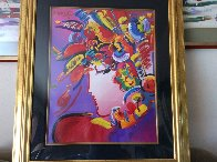 Blushing Beauty 2002 Unique 34x40 Super Huge Works on Paper (not prints) by Peter Max - 3