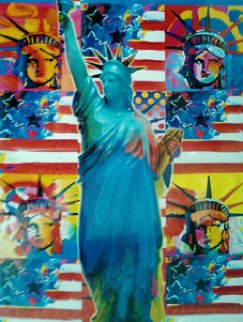 God Bless America, Ver. 1 2010 32x28 Original Painting by Peter Max