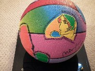 Basketball Painted Icon Series 2001 Sculpture by Peter Max - 1