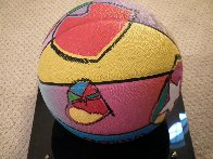 Basketball Painted Icon Series 2001 Sculpture by Peter Max - 5