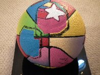 Basketball Painted Icon Series 2001 Sculpture by Peter Max - 3