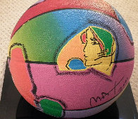 Basketball Painted Icon Series 2001 Sculpture by Peter Max - 0