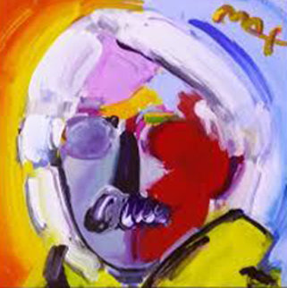 Andy Warhol With a Mustache  1997 Embellished Works on Paper (not prints) by Peter Max