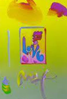 Love  2008 22x25 Works on Paper (not prints) by Peter Max