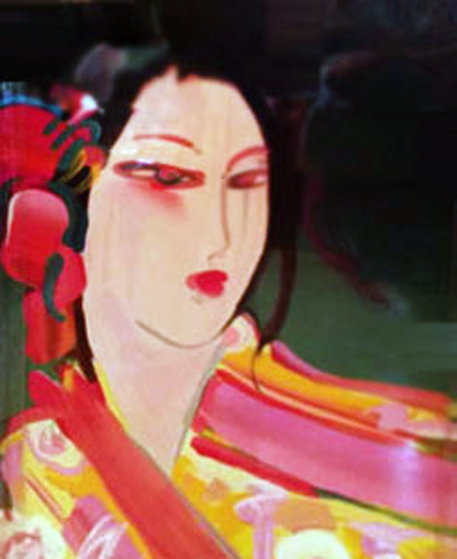 Asia Hand Embellished 1989 Works on Paper (not prints) by Peter Max