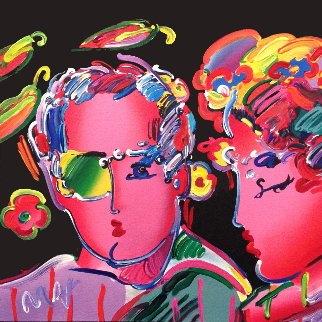 Zero in Love Unique 1989 11x11 Works on Paper (not prints) by Peter Max