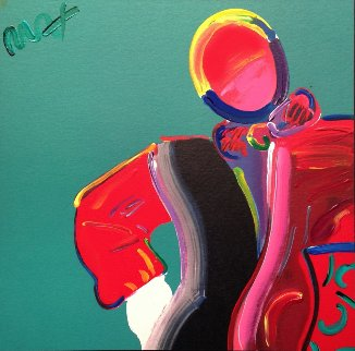 Dega Man 1989 Unique 11x11 Works on Paper (not prints) by Peter Max
