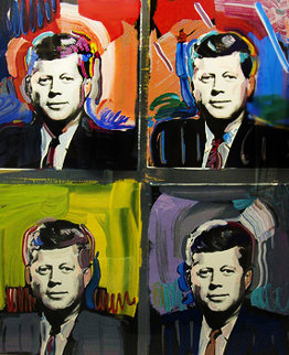 JFK - John F Kennedy 1989 Limited Edition Print by Peter Max