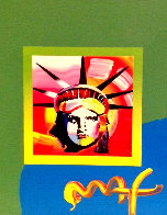 Liberty Head II Unique 2000 10x8 Works on Paper (not prints) by Peter Max - 0
