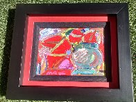Untitled Painting  1989 19x16 Original Painting by Peter Max - 2