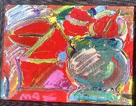 Untitled Painting  1989 19x16 Original Painting by Peter Max - 1
