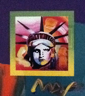 Liberty Head 2008  38x33 Works on Paper (not prints) - Peter Max