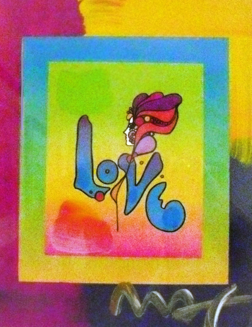 Love on Blends 2006 22x24 Works on Paper (not prints) by Peter Max