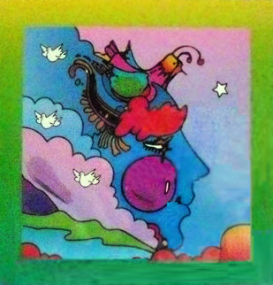 Woodstock Series: Profile on Blends 2006 Unique 22x24 Works on Paper (not prints) by Peter Max
