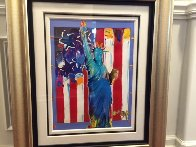 United We Stand II Unique 2005 38x31 Works on Paper (not prints) by Peter Max - 1
