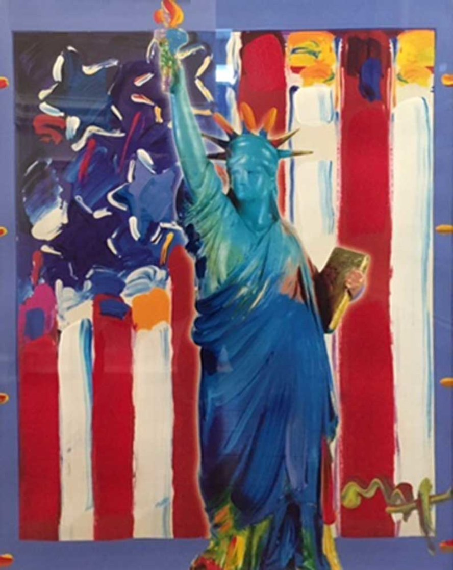 United We Stand II Unique 2005 38x31 Works on Paper (not prints) by Peter Max