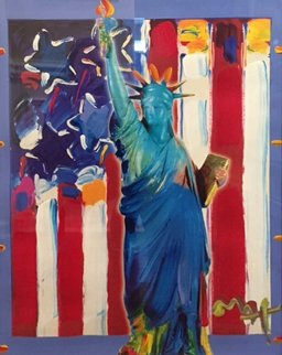 United We Stand II Unique 2005 38x31 Works on Paper (not prints) - Peter Max