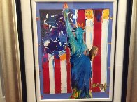 United We Stand II Unique 2005 38x31 Works on Paper (not prints) by Peter Max - 2