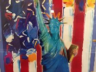 United We Stand II Unique 2005 38x31 Works on Paper (not prints) by Peter Max - 3